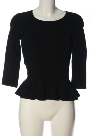 Alaïa Bluzka z długim rękawem czarny W stylu casual