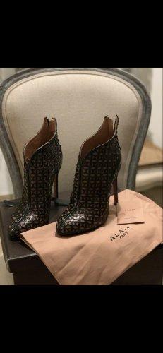 Alaïa Low boot noir-beige