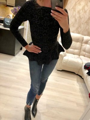 Alaïa Knitted Sweater black