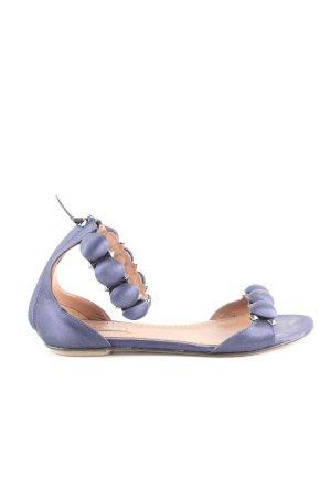 Alaïa Sandalias de tiras azul look casual