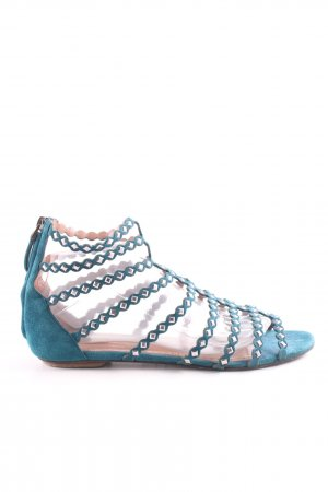 Alaïa Strapped Sandals petrol casual look