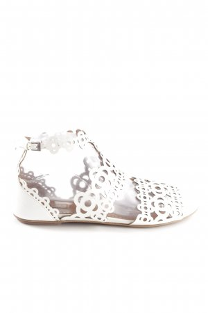 Alaïa Strapped High-Heeled Sandals white casual look