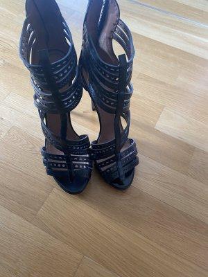 Alaïa Plateauzool sandalen zwart Leer