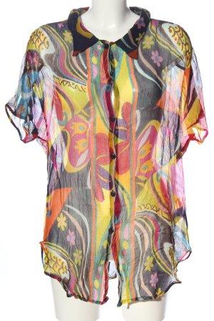 Alain Weiz Camisa de manga corta estampado con diseño abstracto elegante