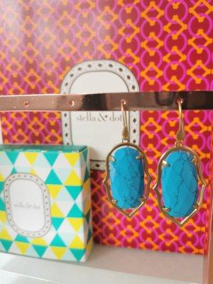 Stella & Dot Pendientes colgante color oro