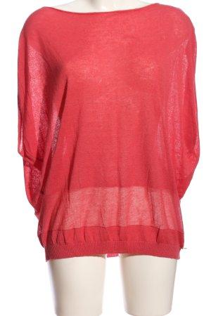 Alan Red Sweter z krótkim rękawem czerwony W stylu casual