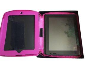 ALASSIO Leder Tablet-PC Hülle Pink