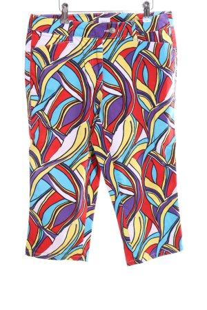 Alba Moda 3/4-Hose abstraktes Muster Casual-Look