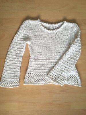 Alba Moda Pull à gosses mailles blanc