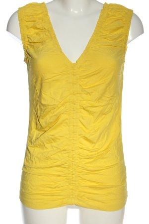 Alba Moda ärmellose Bluse blassgelb Casual-Look