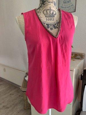Alba Moda Bluse - Pink - Größe 34 XS/S - V-Ausschnitt - Kurzarm