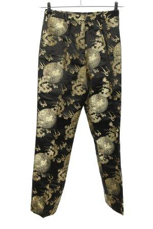Alba Moda Spodnie z zakładkami czarny-złoto Na całej powierzchni