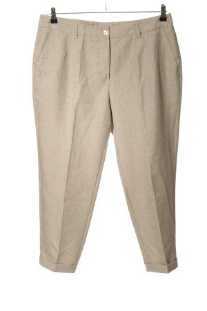 Alba Moda Pleated Trousers cream striped pattern casual look