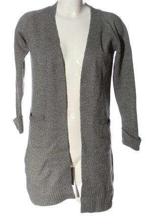 Alba Moda Cardigan grigio chiaro puntinato stile casual