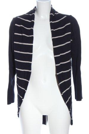 Alba Moda Cardigan nero-bianco motivo a righe stile casual