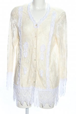 Alba Moda Cardigan creme-weiß Business-Look