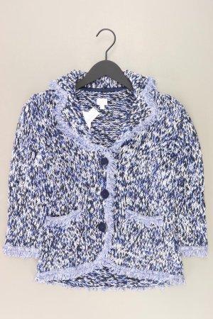 Alba Moda Cardigan blue-neon blue-dark blue-azure cotton