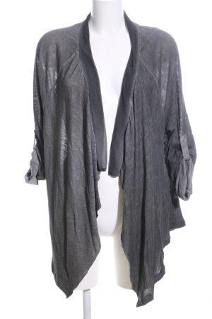 Alba Moda Cardigan hellgrau Motivdruck Casual-Look