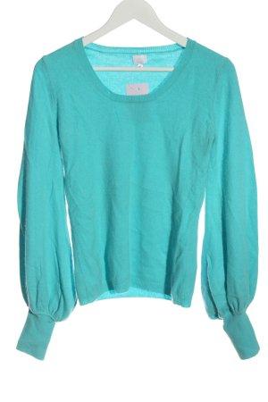 Alba Moda Cashmere Jumper turquoise casual look