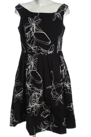 Alba Moda Sukienka koktajlowa czarny-biały Abstrakcyjny wzór Elegancki