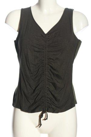 Alba Moda Cropped top khaki casual uitstraling