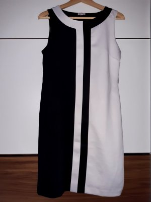 Alba Moda Sukienka etui biały-czarny Poliester