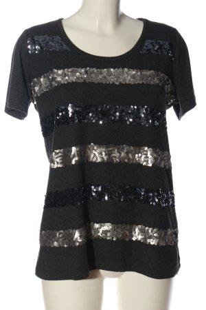 Alba Moda T-shirt noir moucheté style décontracté