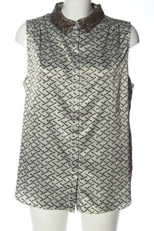 Alba Moda Blusa-camisa blanco puro-negro look casual