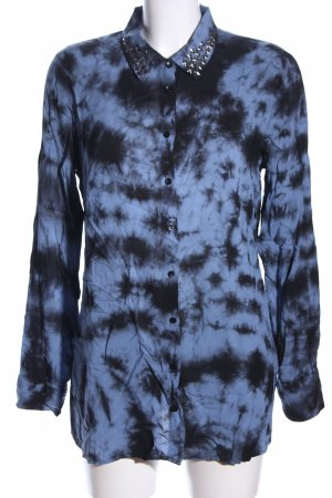 Alba Moda Hemd-Bluse blau-schwarz abstraktes Muster Casual-Look