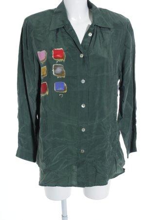 Alba Moda Hemd-Bluse abstraktes Muster extravaganter Stil