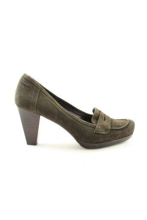 Alba Moda High Heels khaki Business-Look