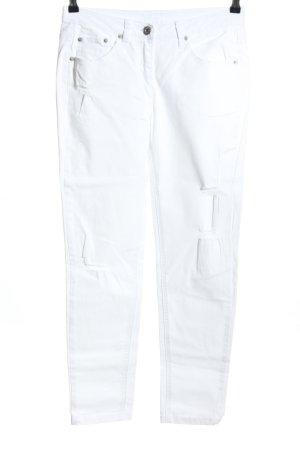 Alba Moda Vaquero de talle alto blanco look casual