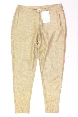 Alba Moda Trousers gold-colored cotton