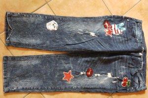 Alba Moda Jeans baggy bleu coton