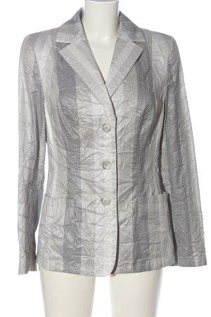 Alba Moda Klassischer Blazer lichtgrijs-wolwit gestreept patroon zakelijke stijl