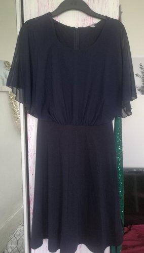 Alba Moda Kleid dunkelblau mit Fledermausärmeln - ungetragen