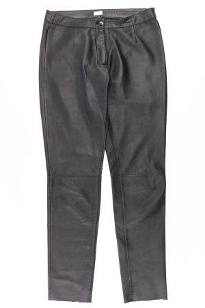 Alba Moda Pantalon en simili noir cuir