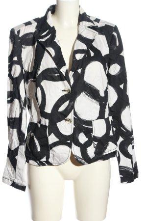 Alba Moda Kurz-Blazer weiß-schwarz Allover-Druck Casual-Look