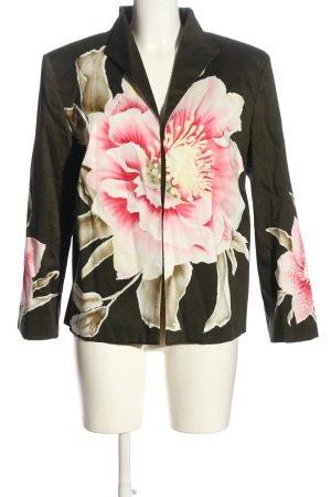 Alba Moda Kurz-Blazer khaki-pink Blumenmuster Business-Look