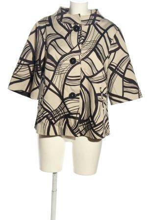 Alba Moda Kurz-Blazer wollweiß-schwarz abstraktes Muster Casual-Look