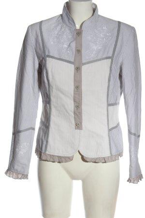 Alba Moda Korte blazer wit-lichtgrijs abstract patroon elegant