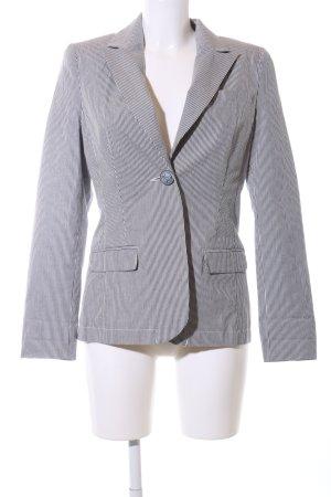 Alba Moda Korte blazer blauw-wit gestreept patroon zakelijke stijl