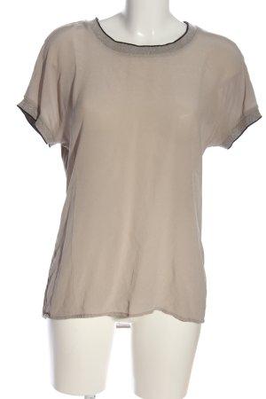 Alba Moda Blusa de manga corta crema look casual