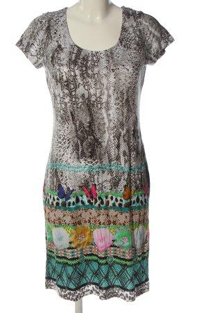 Alba Moda Sukienka z krótkim rękawem jasnoszary-turkusowy W stylu casual