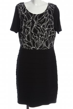 Alba Moda Sukienka z krótkim rękawem czarny-biały Na całej powierzchni
