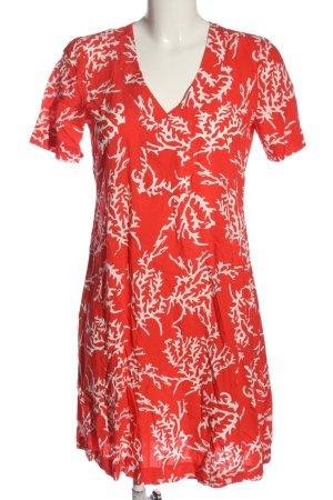 Alba Moda Abito a maniche corte rosso-bianco motivo astratto stile casual