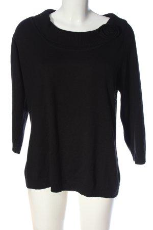 Alba Moda Sweter z krótkim rękawem czarny W stylu casual