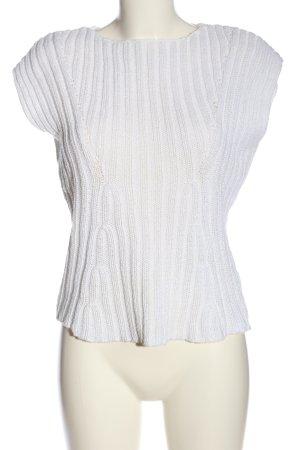 Alba Moda Sweater met korte mouwen wit casual uitstraling
