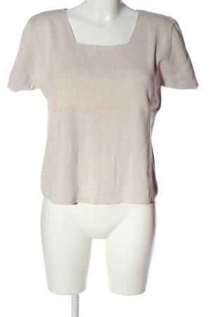 Alba Moda Maglione a maniche corte crema stile casual