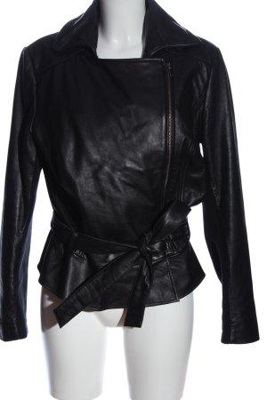 Alba Moda Krótka kurtka czarny W stylu casual